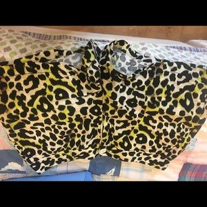 Madison shirts leopard print- great condition